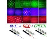 High Power 5mw 6in1 Red + Green + Blue Violet Laser Pointer Pen + Star Caps 9SIA7253UN0857