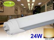 10X T8 LED tubes 24W 5FT 1.5M  FLUORESCENT TUBE LIGHT WARM WHITE 2800K - 3000K AC120V G13 BASE 2 YEARS WARRANTY