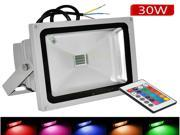 Hakkatronics, 30W RGB LED flood lights  Remote Control IP65 Waterproof  Colour Changing Outdoor lighting lamps, grey body