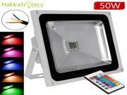 1X RGB LED 50W flood lights  Remote Control  IP65 Waterproof  Colour Changing Outdoor lighting lamps,grey body