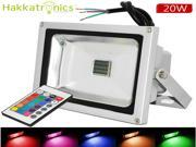 3pcs Remote Control 20W RGB Waterproof IP65 LED flood lights,16 different Color tones Outdoor lighting lamps