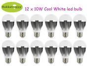 12x 10W A19 Globe LED Light Bulbs AC85-265V E27/E26 Cool White 6000K 50,000 hours lifespan