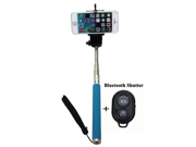 Extendable Self Portrait Selfie Handheld Stick Monopod With  Large Size Smartphone Adjustable Phone Holder And Bluetooth Remote for iPhone 6 & Samsung Big Scree 9SIA4W227N1543