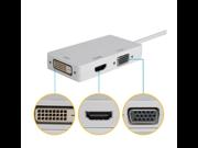 Mini DisplayPort Display Port to DVI VGA HDMI Mac Adapter Cable Converter For MacBook Air, MacBook Pro, iMac, Mac Mini-Free Drive