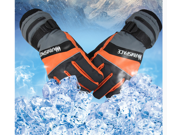 Professional outdoor motorcycle gloves rechargeable electric gloves ski gloves (Orange) Size XL 9SIA4W22A74776