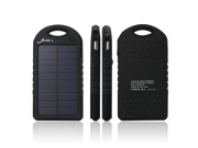 Elivebuy® Solar Panel Charger 5000mAh Rain-resistant and