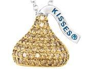 HERSHEY'S KISSES® Silver November CZ Multi-Stone Pendant with Chain