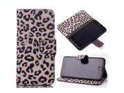 Usberry iPhone 4 4S case Classic iPhone 4 4S leatheriPhone 4 4S leahter case iPhone 4 4S wallet case Leopard Pattern Design Flip Wallet leather case cover for iPhone 4 4S (2014)