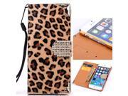Usberry iPhone 4 4S case Classic iPhone 4 4S Leopard Style leatheriPhone 4 4S leahter case iPhone 4 4S wallet case Fashion Slim Fit Flip wallet leather with stand case cover for iPhone 4 4S (2014)