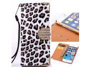 Usberry iPhone 4 caseClassic iPhone 4 4S Leopard Style leatheriPhone 4 leahter Case iPhone 4 wallet caseFashion Slim Fit Flip wallet leather with stand case cover for iPhone 4 (2014)