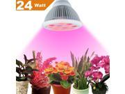 Plant Light,Newest Plant LED Grow Light E27 Growing Bulbs for Garden Greenhouse and Hydroponic Aquatic Plants Light Full Spectrum Growing Lamps in 3 Bands (24W)