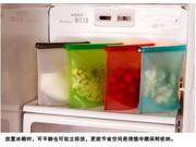 Silicone Reusable Preservative Food Storage Bag Refrigerator Fresh Container-Red