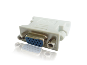 White DVI to VGA Male /Female Adapter Connector for Digital TV/Display
