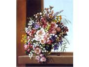 "Adelheid Dietrich Flowers in a Glass Bowl - 16"""" x 20"""" Premium Canvas Print"" 9SIA4Y21K74387"