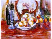 Paul Cezanne Still Life - Apples, a Bottle and Chairback - 18