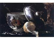 "Willem Kalf Still-Life with a Nautilus Cup (detail) - 16"""" x 24"""" Premium Canvas Print"" 9SIA4Y21KA0824"