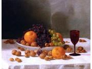 """John F Francis Still Life with Fruit and Nuts - 18"""""""" x 24"""""""" Premium Canvas Print"""" 9SIA4Y21KA4111"""