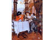 "James Tissot A Luncheon - 18"" x 24"" Premium Canvas Print"