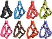 Dogline Comfort Microfiber Soft Padded Step In Pet Puppy Dog Harness Nylon Reinforecement 5 sizes and 8 colos available