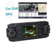 2.0 inch Dual Lens HD Car DVR X8000 GPS Camcorder Recorder Support G-Sensor+32GB Memory Card