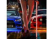 OPT7 Aura LED Underbody Lighting Kit - Full Color Spectrum - 4 Smart-Color Strips - Aluminum Build - E-Z Remotes