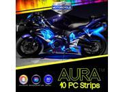 """10Pcs Aura 3-into-1 Motorcycle SmartColor LED Light Strip Kit - """"30-Min-Install"""" for Sportbikes"""