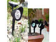 Solar Energy Landscape Light Spotlight Lamp 3 LED Garden Lawn Lamp