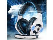 SADES SA-903 WHITE Game Headset Studio Gaming Headphone With Microphone Game Earphone With Mic