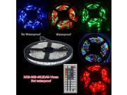 Elenxs 3528 5M RGB LED Tape Strips  Non waterproof 300 Leds 12V + 44Key LED Controller