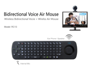 Measy RC13 2.4GHz 4 in 1 Wireless Voice Mic Speaker Fly Air Mouse Keyboard Remote Control For Android TV Box HTPC