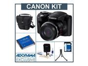 Canon PowerShot SX500 IS Camera, Bundle w/Jr.Flex TRipod,Holster,48b Card,More