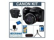 Canon PowerShot SX500 Camera,Bundle w/JrFlex Tripod,Holster,Reader,4gbCard,More