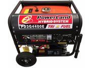 POWERLAND HYBRID 4400 WATT TRI FUEL (GASOLINE / PROPANE/NG) GENERATOR 7.5HP ELECTRIC START
