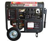 POWERLAND 10000 WATT PORTABLE HYBRID DUAL-FUEL GASOLINE PROPANE GENERATOR 16 HP