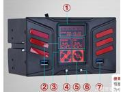 "Tekit 5.25"" USB 3.0 HDD fan speed controller LCD display CD-ROM drive phase fan speed controller box"