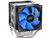 Two 8cm fan 2 heatpipes,tower side-blown,Intel LGA775/1155/1156,AMD 754/939AM2/AM2+/AM3 FM1/FM2, cpu radiator,CPU FAN,CPU cooler