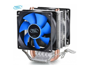 Tekit Dual 8cm fan 2 heatpipes,tower side-blown,Intel LGA775/1155/1156,AMD 754/939AM2/AM2+/AM3 FM1/FM2, cpu radiator,CPU dual FAN,CPU cooler
