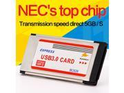 USB 3.0 PCI Express Card Adapter 5Gbps Dual 2 Ports HUB PCI 34mm Slot Express Card PCMCIA For Laptop Notebook
