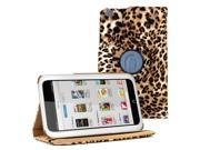 Leopard Design 360 Degree Rotating PU leather Folio Stand Case Cover for Nook HD 7 inches Barnes & Noble e-book Reader Tablet