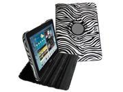 Zebra 360 Degree Rotating Leather Case Cover for Samsung Galaxy Tab 2 10.1 P5100