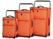 IT Luggage World's Lightest Los Angeles 3 Piece Two Tone Luggage Set - Orange