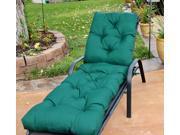 Hunter Green Diamond Tufted Chaise Lounge Cushion