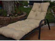 Beige Diamond Tufted Chaise Lounge Cushion