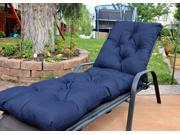Navy Blue Diamond Tufted Chaise Lounge Cushion
