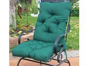 Hunter Green Diamond Tufted Club Chair Cushion (Portable w/Storage Handle)