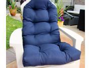 Navy Blue Scalloped Top Tufted Adirondack Cushion