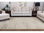 Textured Stripes Sage/Taupe Maz 2000 Area Rug (8' X 11')