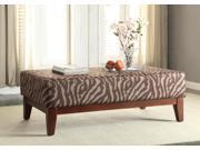 Large Brown Tonal Animal Print Cocktail Bench 9SIA54333A8796