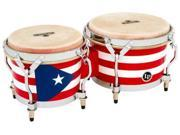 Latin Percussion M201PR Matador Puerto Rican Flag Bongos