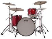 Ludwig Classic Maple Series 3-Piece Pro Beat Shell kit with Free Matching Snare (Red Sparkle) 9SIA5446FZ2915